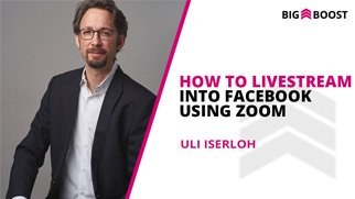 How To Livestream Into Facebook Using Zoom