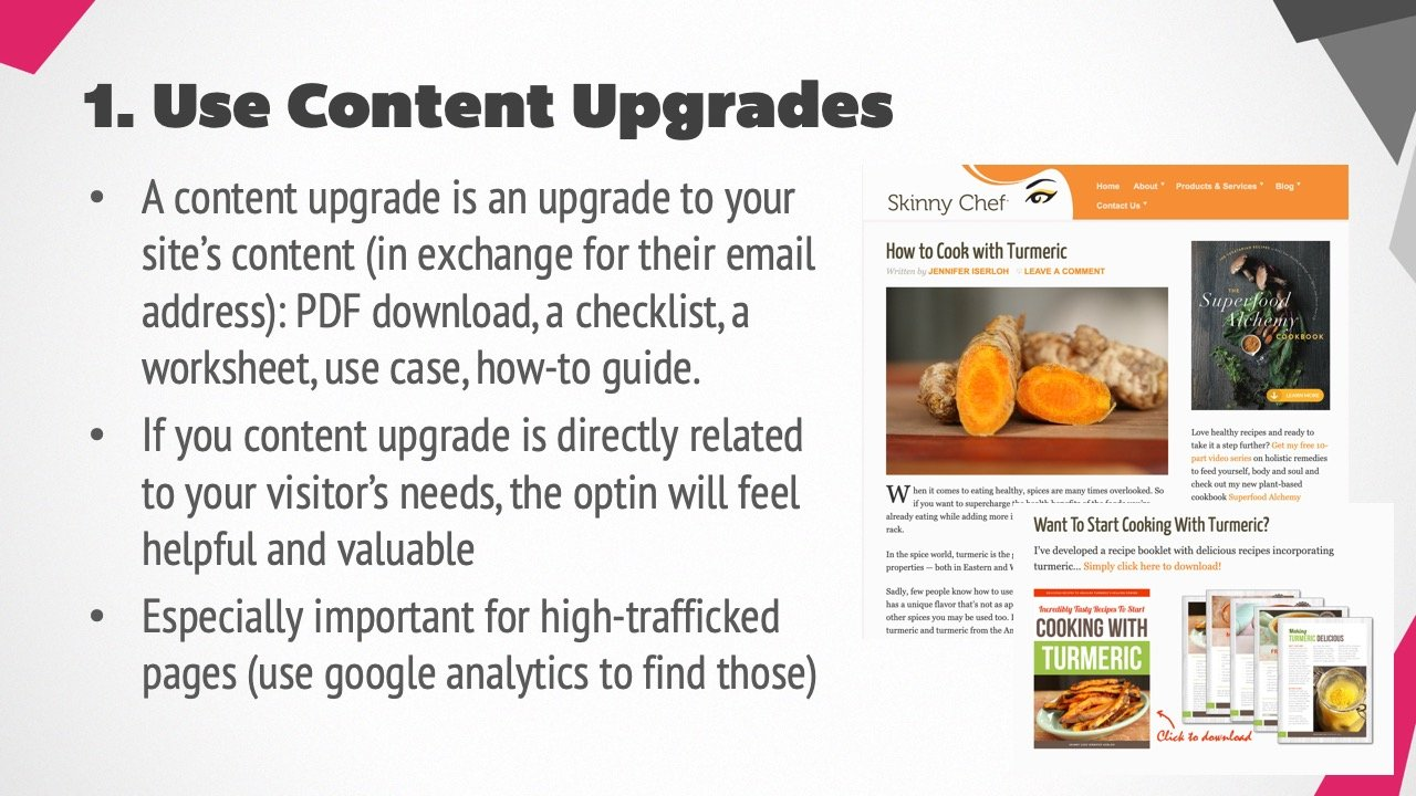 Provide Content Upgrades In Blog Posts