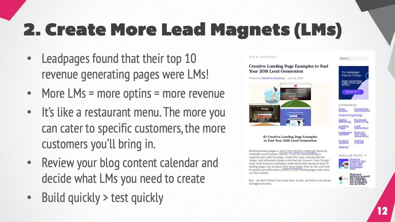 Use lead magnets to build your email list
