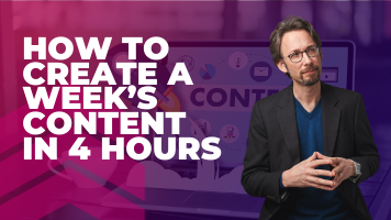 How To Create A Week's  Content In 4 Hours