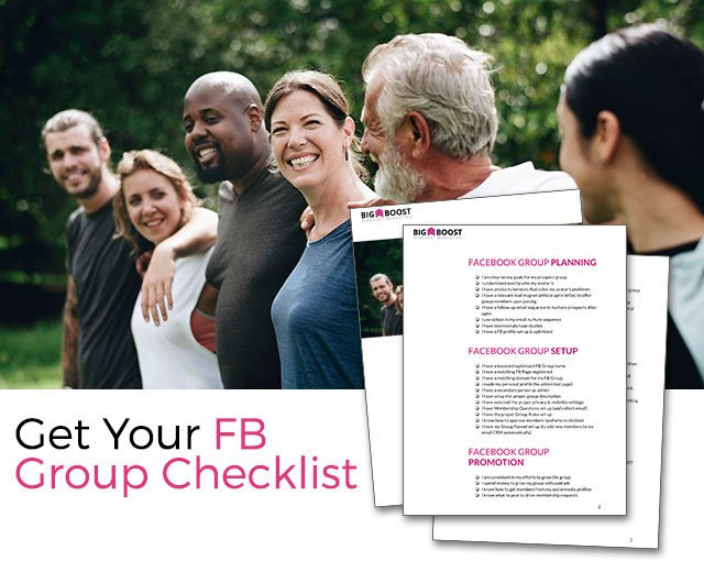 Get Your FB Group Checklist